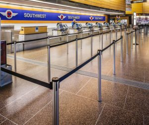 Retractable Stanchions for Airports