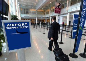 TSA Checkpoint Gate Area Stanchions