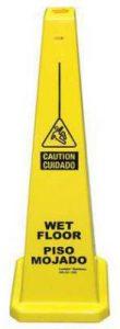 Bilingual Yellow Wet Floor Cone English Spanish 03-600-09