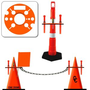 Airport Grounds Crew Wand Cone Caddy